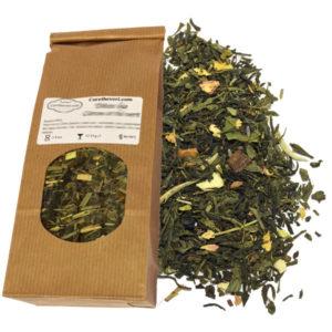 Thé vert bio saveur mangue vanille