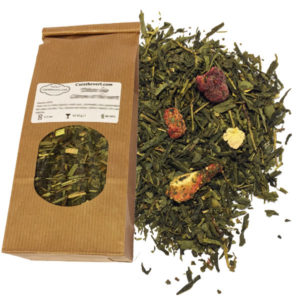 Thé vert bio saveur fraise et framboise